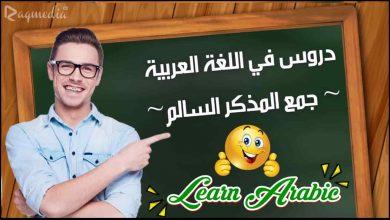 تعلم قواعد اللغة العربية - جمع المذكر السالم بالصوت والصورة