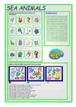 ESL-EFL-downloadable-printable-worksheets-practice-exercises-and-activities-to-teach-about-sea-animals-crossword-insects-and-reptiles-games