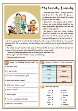 ESL-EFL-downloadable-printable-worksheets-practice-exercises-and-activities-to-teach-about-family-members-reading-comprehension-exercises